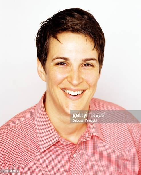 Rachel Maddow political commentator TV host and author poses in 2006 in New York City New York
