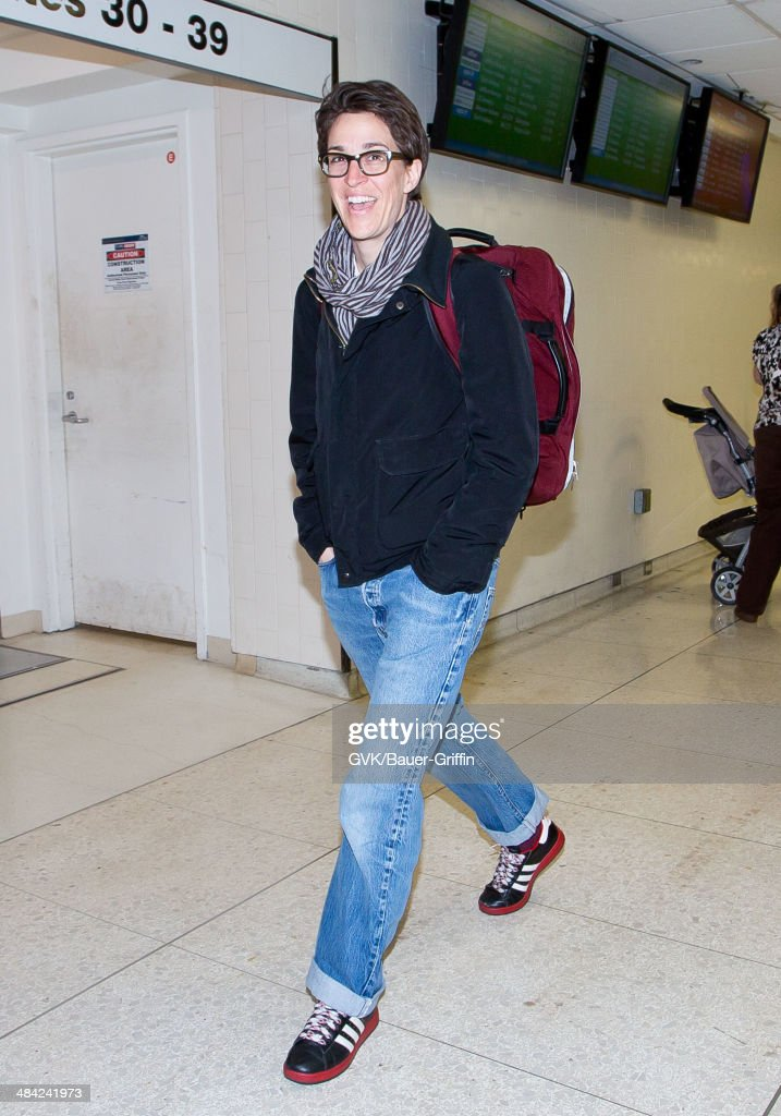 Rachel Maddow seen at LAX on April 11, 2014 in Los Angeles, California.
