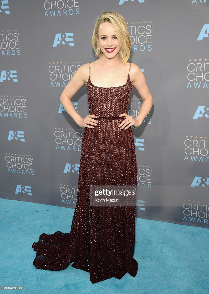 Rachel McAdams attends the 21st Annual Critics' Choice Awards at Barker Hangar on January 17 2016 in Santa Monica California