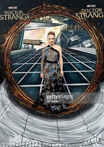Rachel McAdams in front of the Doctor Strange inspired 3D Art at a fan screening to celebrate the release of Marvel Studio's Doctor Strange at the...