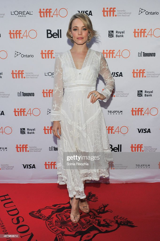 Rachel McAdams walks the carpet at 2015 Toronto International Film Festival Jason Reitman's Live Read Photo Call at Ryerson Theatre on September 12...