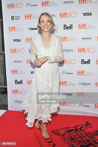 Rachel McAdams walks the carpet at 2015 Toronto International Film Festival Jason Reitman's Live Read Photo Call at Ryerson Theatre on September 12...