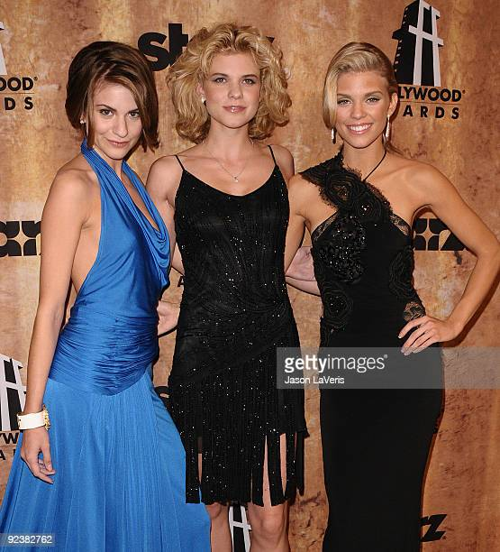 Rachel McCord Angel McCord and AnnaLynne McCord attend the Hollywood Film Festival after party at The Beverly Hilton Hotel on October 26 2009 in...