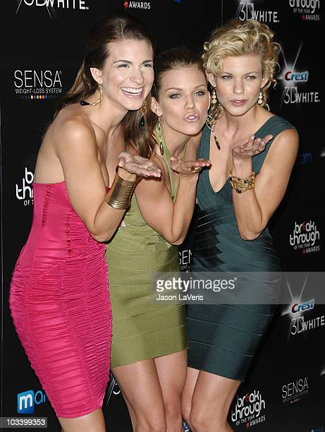 Rachel McCord AnnaLynne McCord and Angel McCord attend the 2010 Breakthrough of the Year Awards at Pacific Design Center on August 15 2010 in West...