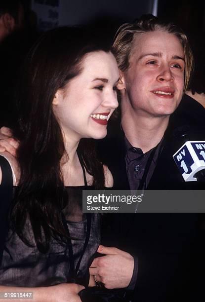 Rachel Miner and Macaulay Culkin at premiere of 'Star Wars the Phantom Menace' New York May 16 1999