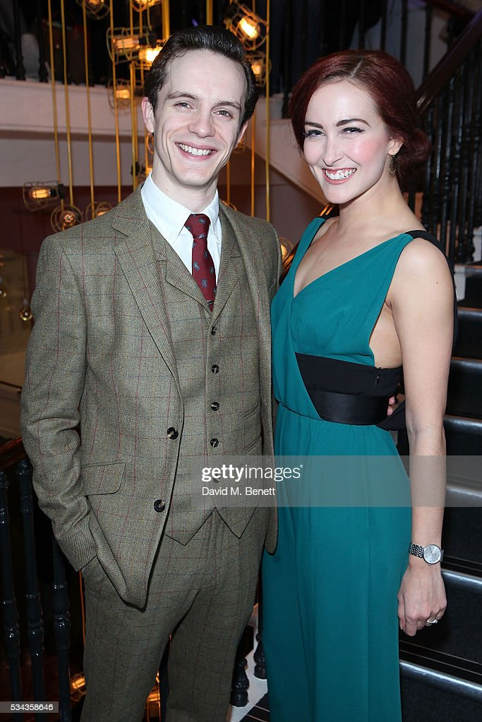 Rachel Muldoon and Daniel Collins attend the press night after party for 'Jekyll Hyde' at The Old Vic Theatre on May 25 2016 in London England