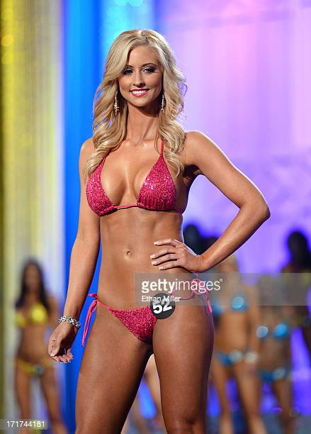 Rachel Mundwiller of Springfield Missouri competes during the 17th annual Hooters International Swimsuit Pageant at The Joint inside the Hard Rock...