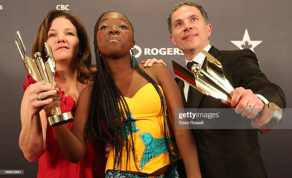 Rachel Mwanza MarieClaire Poulin and Pierre Even wins for Rebelle/War Witch at the Canadian Screen Awards at the Sony Centre