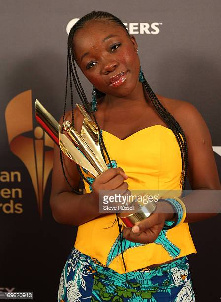 Rachel Mwanza wins for Rebelle/War Witch at the Canadian Screen Awards at the Sony Centre