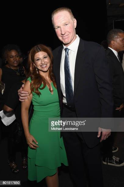 Rachel Nichols and former NBA player Chris Mullin attend the 2017 NBA Awards Live On TNT on June 26 2017 in New York City 27111_001