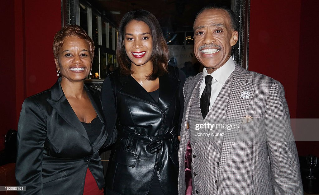 Rachel Noerdlinger, Aisha McShaw and <a gi-track='captionPersonalityLinkClicked' href=/galleries/search?phrase=Al+Sharpton&family=editorial&specificpeople=202250 ng-click='$event.stopPropagation()'>Al Sharpton</a> attend Reverend <a gi-track='captionPersonalityLinkClicked' href=/galleries/search?phrase=Al+Sharpton&family=editorial&specificpeople=202250 ng-click='$event.stopPropagation()'>Al Sharpton</a> 'Rejected Stone: <a gi-track='captionPersonalityLinkClicked' href=/galleries/search?phrase=Al+Sharpton&family=editorial&specificpeople=202250 ng-click='$event.stopPropagation()'>Al Sharpton</a> And The Path To American Leadership' Book Reception at Stage 48 on October 8, 2013 in New York City.