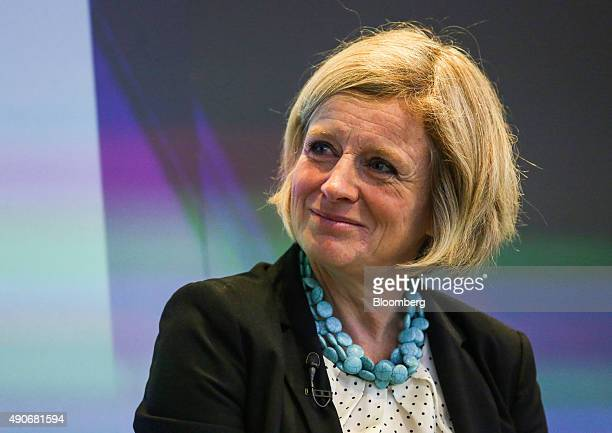 Rachel Notley Alberta's premier listens during an interview at the Canadian Fixed Income Conference in New York US on Wednesday Sept 30 2015 Kinder...