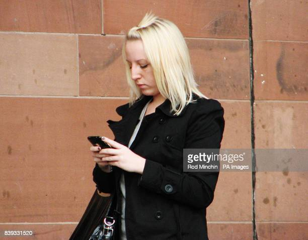 Rachel O'Connor of Hall Road Concord Washington Tyne and Wear the next door neighbour of Caroline Cartwright leaves Newcastle Crown Court after...