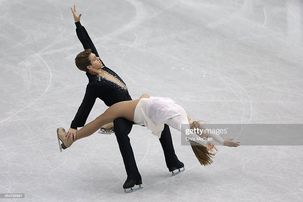 Rachel Parsons and Michael Parsons of the USA compete in the Junior Ice Dance Free Dance Final during day four of the ISU Grand Prix of Figure Skating Final 2013/2014 at Marine Messe Fukuoka on December 8, 2013 in Fukuoka, Japan.