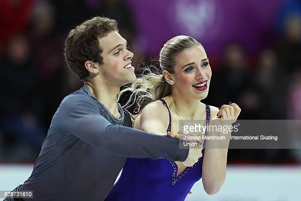 Rachel Parsons and Michael Parsons of United States compete during Junior Ice Dance Free Skating on day two of the ISU Junior and Senior Grand Prix...