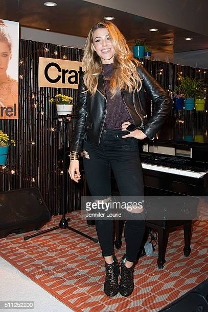 Rachel Platten arrives at The Grove's Crate and Barrel on February 18 2016 in Los Angeles California