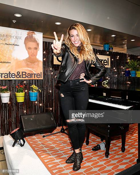 Rachel Platten performs at Crate And Barrel At The Grove on February 18 2016 in Los Angeles California