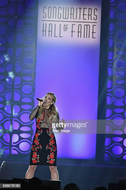 Rachel Platten performs onstage during the Songwriters Hall Of Fame 47th Annual Induction And Awards at Marriott Marquis Hotel on June 9 2016 in New...
