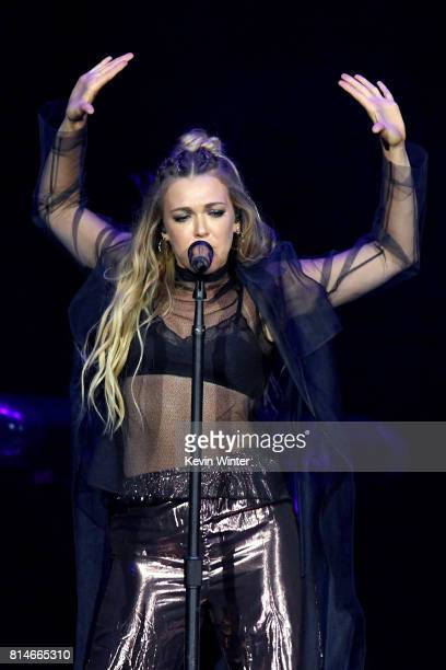 Rachel Platten performs onstage during the Tim McGraw and Faith Hill 'Soul2Soul' World Tour at Staples Center on July 14 2017 in Los Angeles...