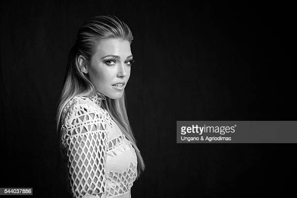Rachel Platten poses for a portrait at Logo's 'Trailblazer Honors' on June 23 in the Cathedral of St John the Divine in New York City