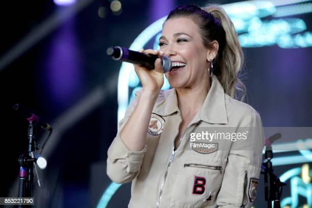 Rachel Platten speaks on Fremont Stage during day 3 of the 2017 Life Is Beautiful Festival on September 24 2017 in Las Vegas Nevada