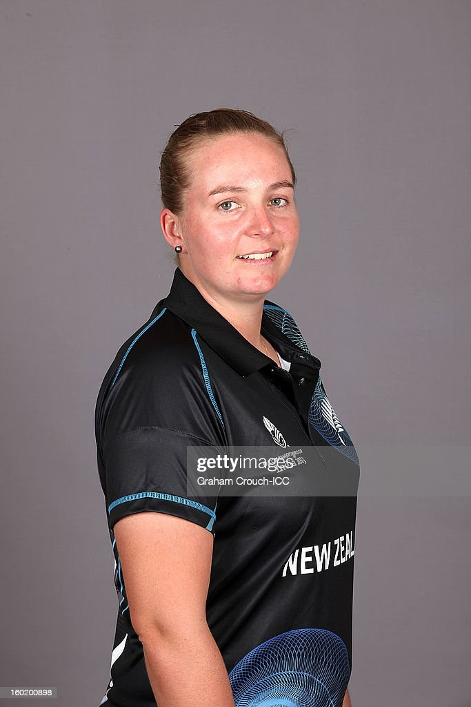 Rachel Priest of New Zealand poses at a portrait session ahead of the ICC Womens World Cup 2013 at the Taj Mahal Palace Hotel on January 27, 2013 in Mumbai, India.