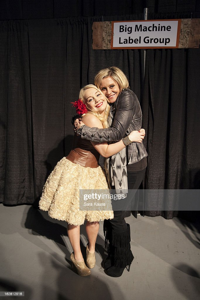 Rachel 'RaeLynn' Woodward and Gwen Sebastian attend CRS 2013 on February 27, 2013 in Nashville, Tennessee.