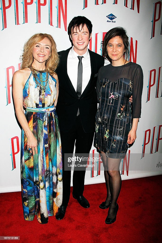 Rachel Ray Jones, Matthew James and Diane Paulus attend the after party for the Broadway opening night of 'Pippin' at Slate on April 25, 2013 in New York City.