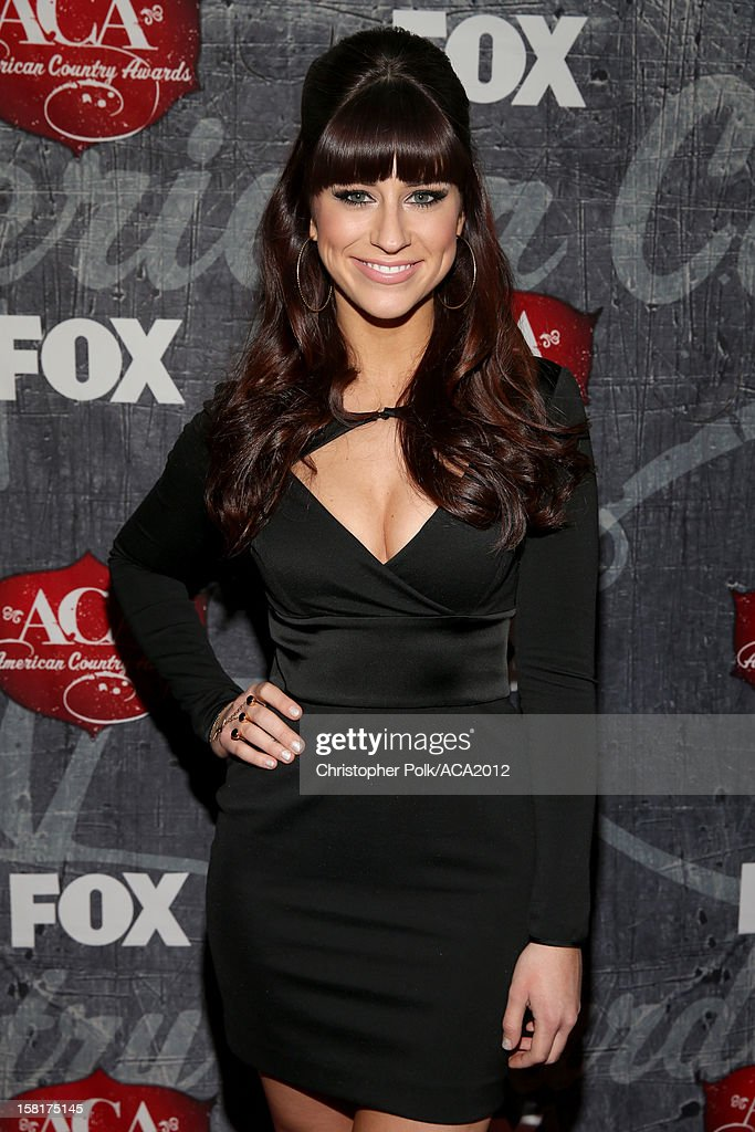 Rachel Reinert of Gloriana arrives at the 2012 American Country Awards at the Mandalay Bay Events Center on December 10, 2012 in Las Vegas, Nevada.
