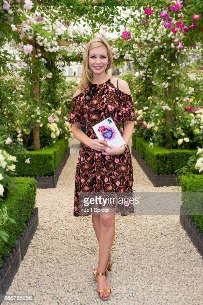 Rachel Riley attends RHS Chelsea Flower Show press day at Royal Hospital Chelsea on May 22 2017 in London England