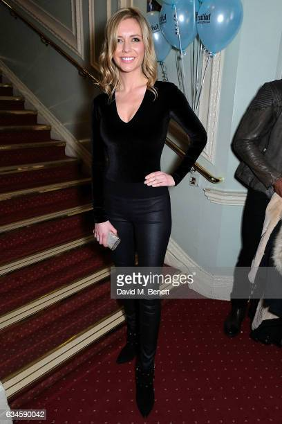 Rachel Riley attends the 2nd birthday gala performance of 'Beautiful The Carole King Musical' at The Aldwych Theatre on February 9 2017 in London...