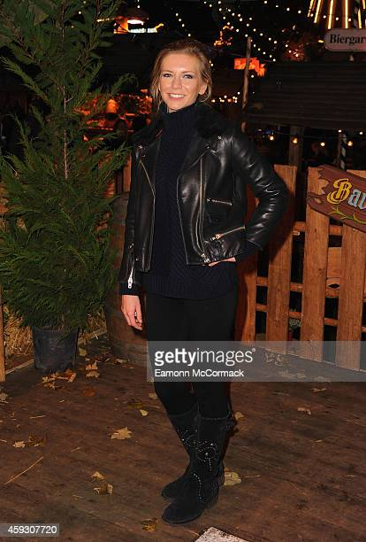 Rachel Riley attends the Winter Wonderland VIP opening at Hyde Park on November 20 2014 in London England