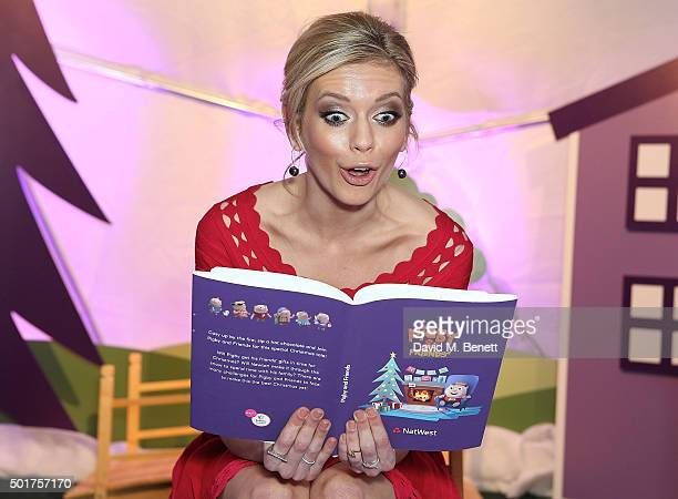 Rachel Riley opens the Natwest Family Fun Zone at Winter at Southbank Centre to raise funds for Evelina London Children's Hospital on December 17...