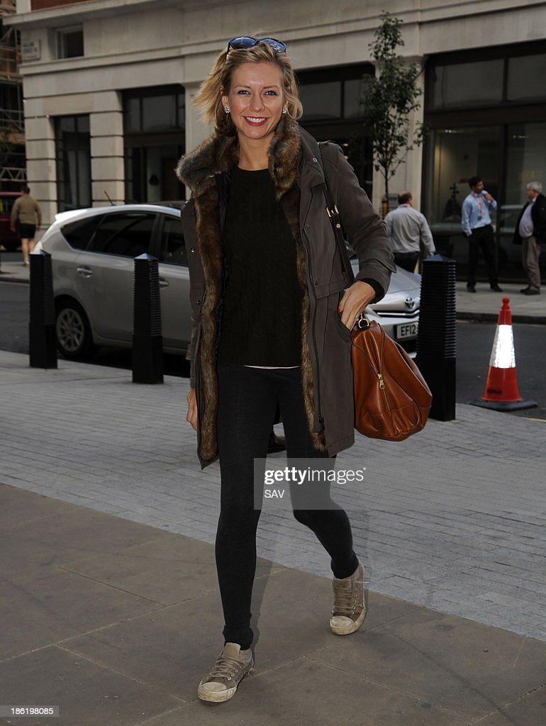 Rachel Riley pictured at BBC Radio 1 on October 29, 2013 in London, England.