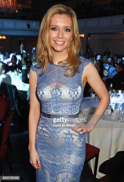 Rachel Riley poses at the TRIC Awards 2017 at The Grosvenor House Hotel on March 14 2017 in London England