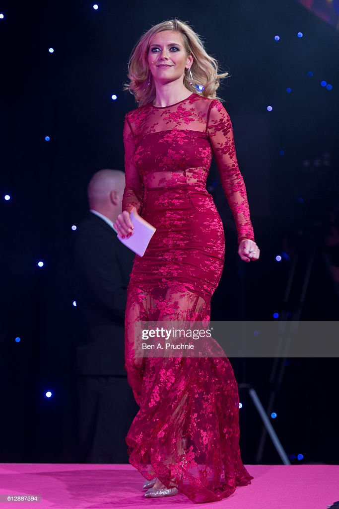 Rachel Riley presents the 21st Legends of football event to celebrate 25 seasons of the Premier League and raise money for music therapy charity Nordoff Robbins at The Grosvenor House Hotel on October 5, 2016 in London, England.