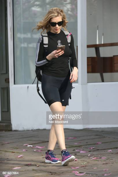 Rachel Riley seen shopping on her way back from the gym in Westbourne Grove on March 31 2017 in London England