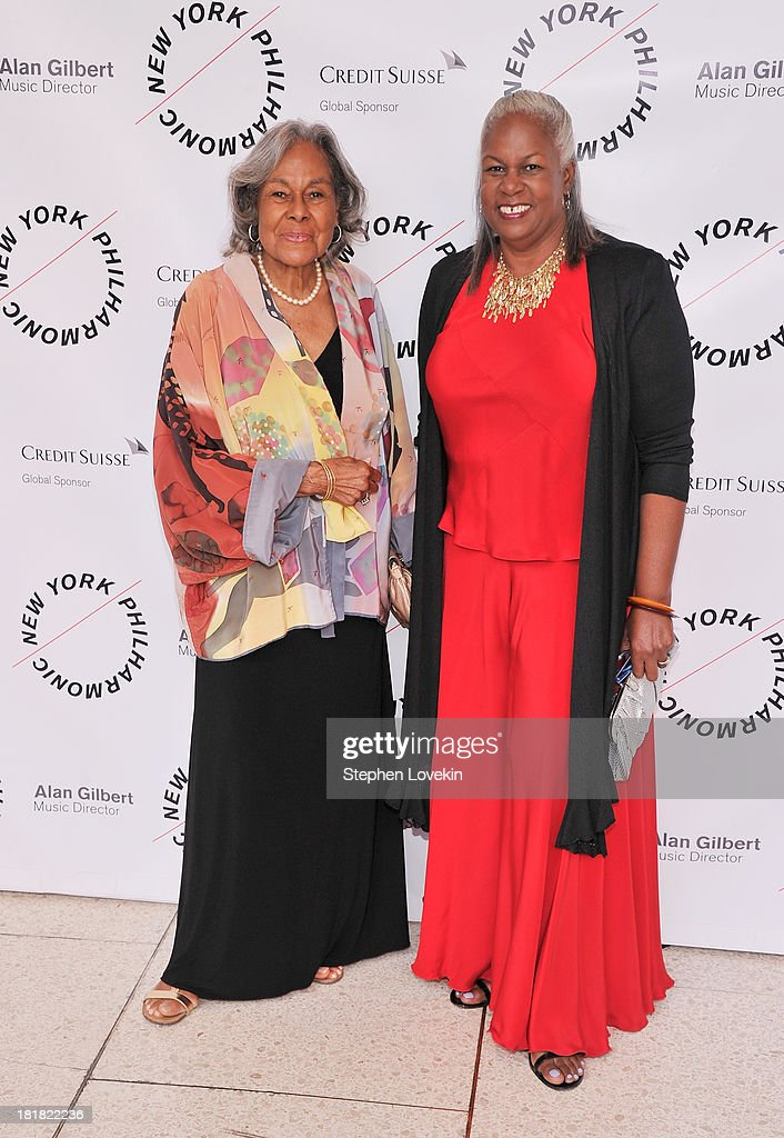 Rachel Robinson and Sharon Robinson attend The New York Philharmonic 172nd Season Opening Night Gala at Avery Fisher Hall, Lincoln Center on September 25, 2013 in New York City.