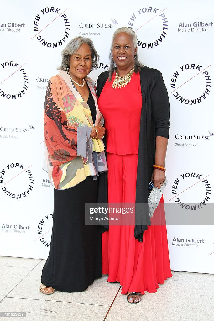 <a gi-track='captionPersonalityLinkClicked' href=/galleries/search?phrase=Rachel+Robinson&family=editorial&specificpeople=93975 ng-click='$event.stopPropagation()'>Rachel Robinson</a> and Sharon Robinson attend the New York Philharmonic 172nd Season Opening Night Gala at Avery Fisher Hall, Lincoln Center on September 25, 2013 in New York City.