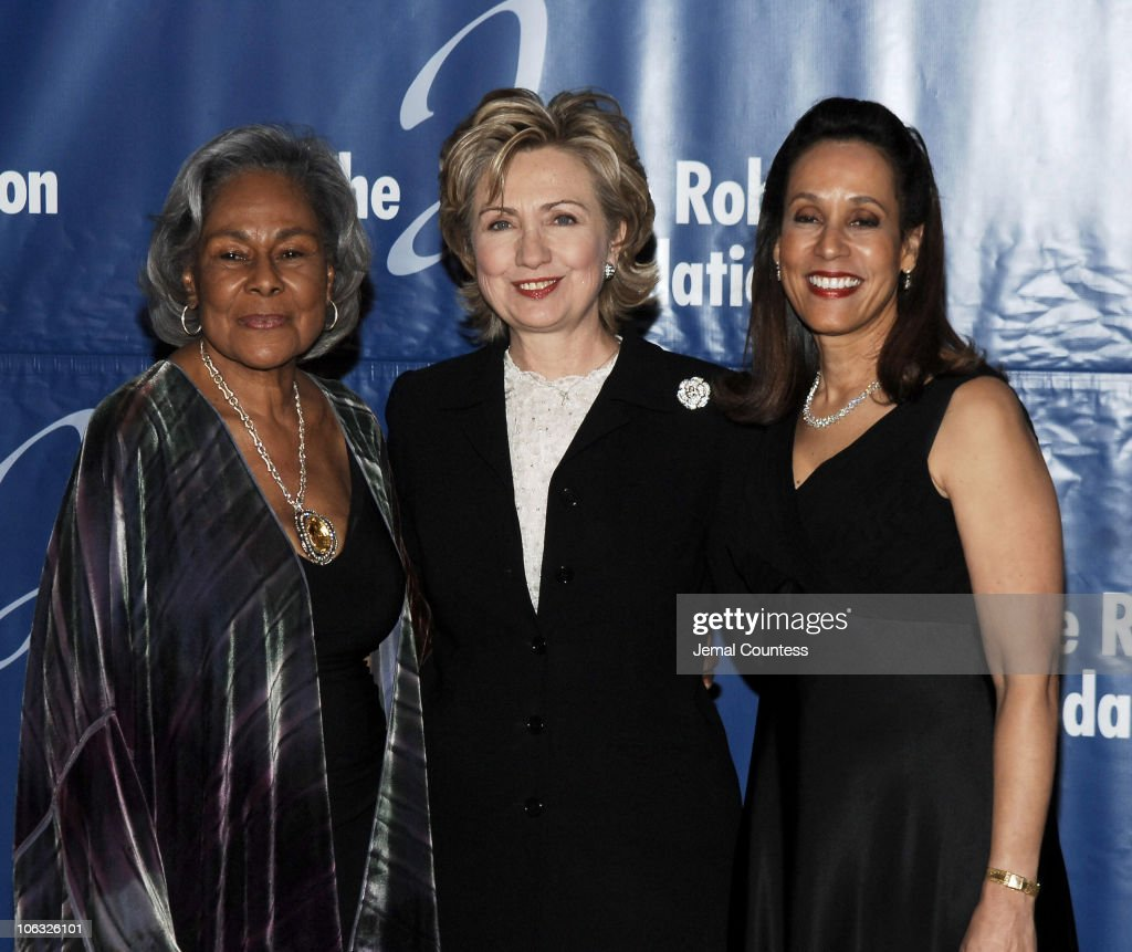Rachel Robinson Senator Hillary Rodham Clinton and Della Britton Baeza President and CEO of the Jackie Robinson Foundation