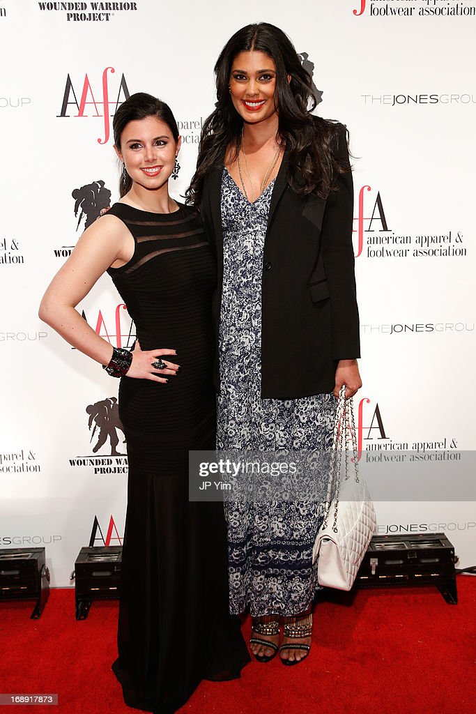 Rachel Roy (R) amd guest attend the 35th Annual American Image Awards at the Intrepid Sea-Air-Space Museum on May 16, 2013 in New York City.