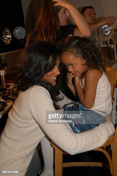 Rachel Roy and Ava Dash attend Child Magazine Fashion Show at The Atelier Tent at Bryant Park on February 7 2005 in New York City