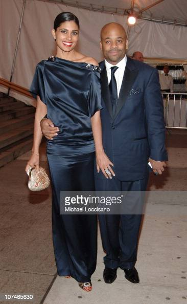 Rachel Roy and Damon Dash during 'Chanel' Costume Institute Gala Opening at the Metropolitan Museum of Art Departures at The Metropolitan Museum of...