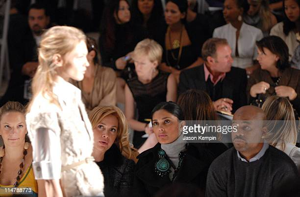 Rachel Roy and Damon Dash during Olympus Fashion Week Spring 2007 J Mendel Front Row and Backstage at The Promenade Bryant Park in New York City New...