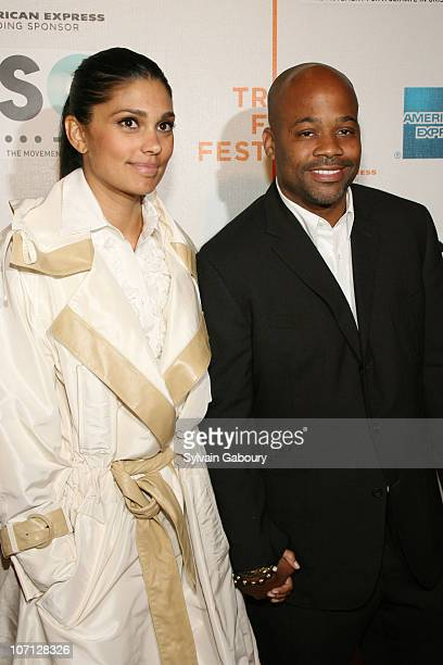 Rachel Roy and Damon Dash during Opening of The Tribeca Film Festival Premiere of 'SOS Short Film Program' Red Carpet Arrivals at BMCC Tribeca PAC at...