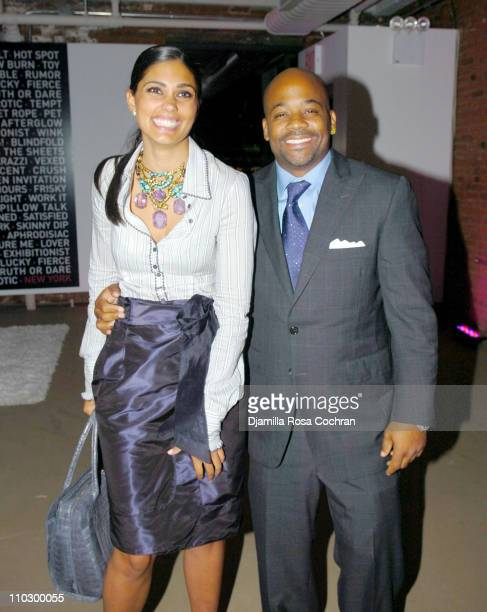 Rachel Roy and Damon Dash during Victoria's Secret Launches Very Sexy Makeup After Party at Xchange in New York City New York United States