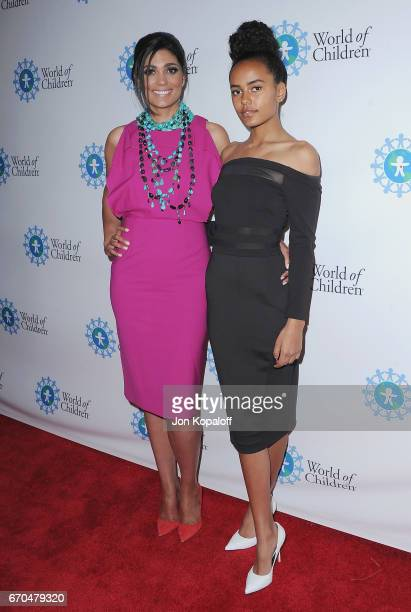 Rachel Roy and daughter Ava Dash arrive at the 2017 World Of Children Hero Awards at Montage Beverly Hills on April 19 2017 in Beverly Hills...