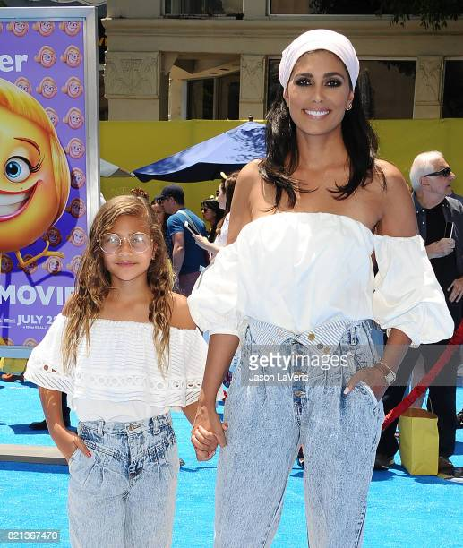 Rachel Roy and daughter Tallulah Ruth Dash attend the premiere of 'The Emoji Movie' at Regency Village Theatre on July 23 2017 in Westwood California