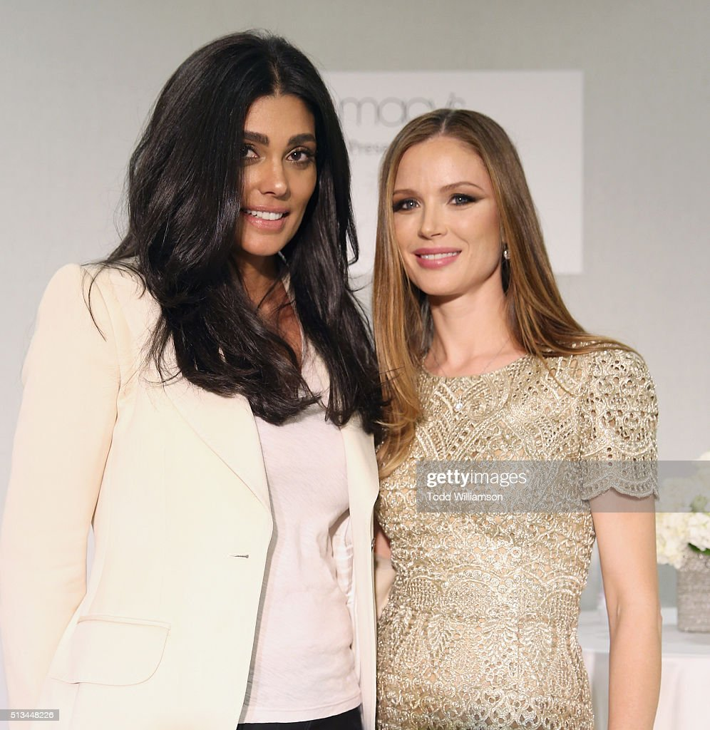Rachel Roy and Marchesa Cofounder And Designer Georgina Chapman attend the Launch of Georgina Chapman's New Marchesa Fine Jewelry Collection At...