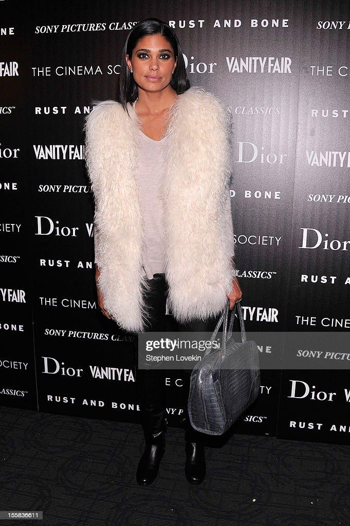 Rachel Roy attends The Cinema Society with Dior & Vanity Fair screening of 'Rust And Bone' at Landmark Sunshine Cinema on November 8, 2012 in New York City.